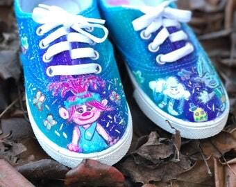 Trolls themed shoes