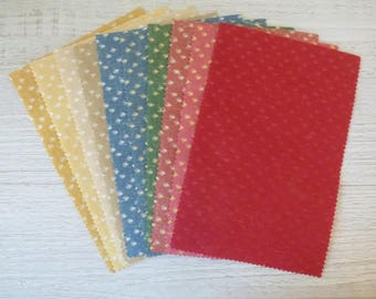 SET OF 10 COUPONS FABRICS FOR PATCHWORK
