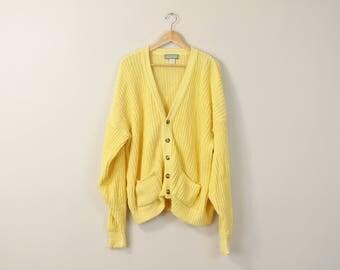 Chunky knit cardigan | Etsy