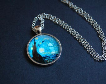 Vincent Van Gogh Starry night necklace
