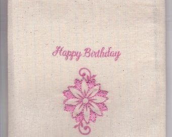 Reusable Gift / Trinket Bag (Happy Birthday)