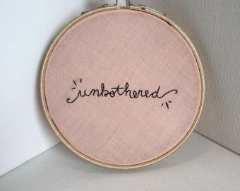 Unbothered Embroidery Wall Decor