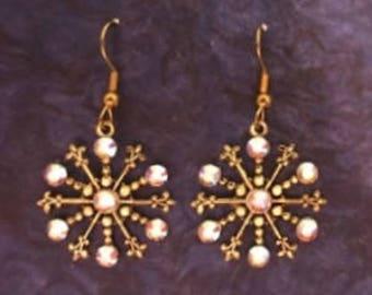 Snowflake Earrings, Christmas Jewelry, Winter Earrings, Christmas Earrings, Holiday Earrings, Snowflake, Snowflake Jewelry, Christmas Gift