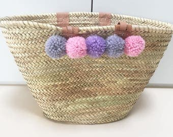 Ibiza bag with PomPoms