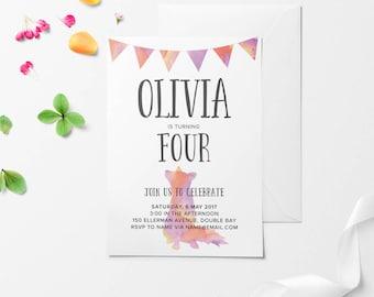 Kids Birthday Invitation, Birthday Invitation, Kids Birthday Invite, Animal Birthday Invitation, Printable Birthday Invitation, DIY Invite