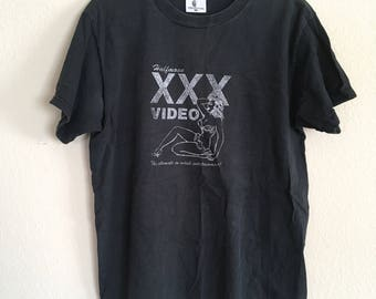 Vintage xxx video tshirt