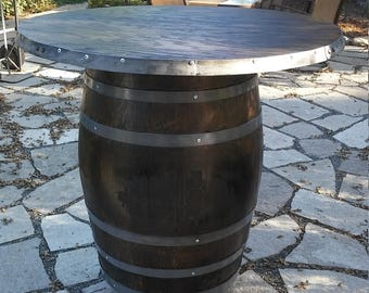 Charmant Wine Barrel Bar Table