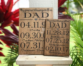 My greatest blessings call me dad | fathers day gift | fathers day | fathers day sign | dad | custom gift | birthday gift