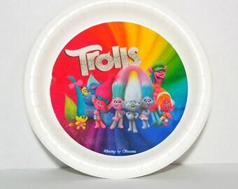 Trolls paper plate 12 pcs, decoration, party, birthday