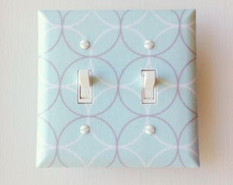 Light Switch Cover, FREE SHIPPING Light Switch Plate, Switch Plate, Aqua Switch Plate, Outlet Cover, Switch Cover,Light Cover, Switch Plates