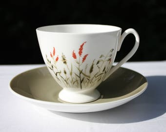 Queen Anne Nymph - Bone China - Made in England - Tea Cup and Saucer