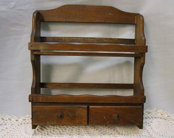 wood spice rack vintage wood 2 tier 2 drawer spice rack hanging spice rack vintage kitchen