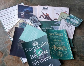 Slytherin, Cards, Vials, Magic Wand, and other Charms, & Accessories, content may vary, Harry Potter, Miniture Harry Potter, Dolls House,