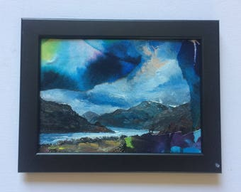 Northumberland - RV-issue No:1 black framed mixed media painting