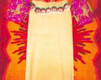 60's Suede Native Fringe Skirt