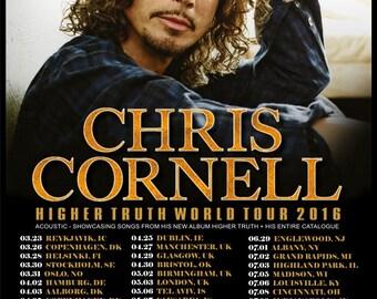 Chris Cornell 2016   Concert POSTER  World Tour soundgarden