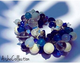 Mixed beads bangle/Браслет из разных видов камней
