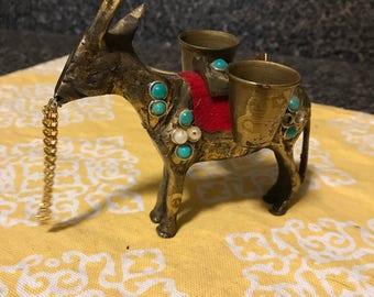 Brass Donkey Figurine