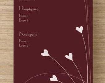 Menu map heart vine