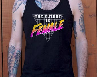 Men High Quality Silk Future Is Female Graphic Guys Tanks Shipped Daily all sizes high quality Active