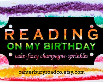 Reading On My Birthday | Soy Candle | Birthday Candle | Book Candle | Book Lover Gift | Literary Candle | Bookish Gift | CanterburyRoadCo