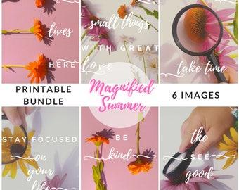 Floral Set of Posters, Floral Printable Bundle, College Dorm Decor For Girls, Dorm Room Poster Art, Wall Decor Bundle, Poster Art