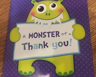 8 thankyou cards and envelopes