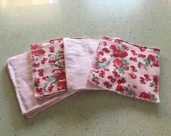 Set of 20, double layer, flannel, washcloths