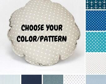 Circle Pillow - Choose from Blue Colors, Kids pillows, Children Pillows, Circle Cushion, Decorative Pillow, Nursery Decor