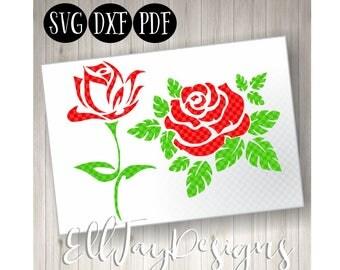 Monogram flower svg, Rose svg, rose clipart, floral roses svg, flower svg, mothers day svg, silhouette cut files, cricut files, die cut ros