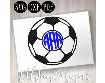 Soccer Ball SVG, Soccer ball monogram, Soccer, Soccer Monogram svg, soccer ball, soccer circle mongram, silhouette, soccer ball silhouette