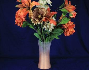 Copper Centerpiece, Copper Vase, Glitter Vase, Copper Glitter Wedding, Copper Vase Centerpieces, Glitter Wedding, Wedding Centerpiece