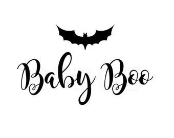 Baby Boo svg, Boo SVG, Bat svg, halloween svg, cricut, halloween shirt, cute halloween svg, candy bag svg, baby girl, baby boy svg file
