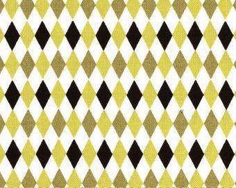 Citron and Grey Harlequin Fabric no.118
