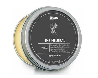 SHMN BEARD BALM - The Neutral - 100% Natural - Sensitive Skin leave in beard conditioner