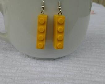 Lego Ohrringe Gelb