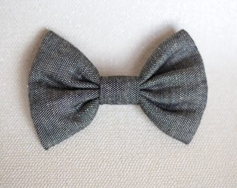 Dog Bow Tie   Grey Woven Bow Tie   Wedding Bow Tie   Christmas Bow Tie   Cotton Bow Tie   Gift For Pet   Luxury Dog Gift   UK   Bowtie