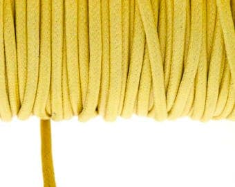 Light yellow 2.7 mm waxed cotton cord