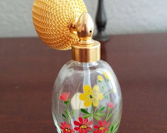 German Perfume Atomizer & Prince Matchabelli Perfume Bottle