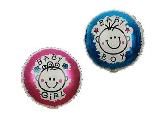 Girl /  Boy Baby Shower Decorations / First Birthday Party Balloons / Welcome Baby / Christening - Helium Quality Foil Balloons