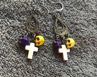 Day of the dead Earring
