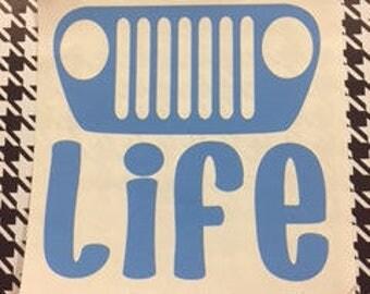 Inventory Sale!!!! - Jeep Life (TJ) Decal/Jeep Life/TJ/Jeep/TJ Jeep/Jeep Decals