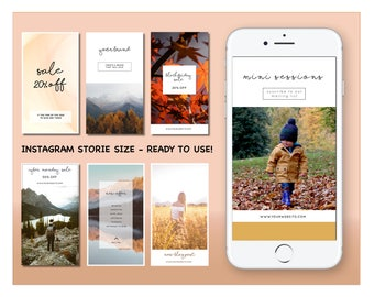 Instagram Stories Pack - Fall Thanksgiving - Social Media Pack - Photoshop template