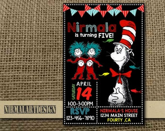 Dr Seuss Invitation, Dr Seuss Birthday, Dr Seuss Party, Dr Seuss Card, Dr Seuss Printable, Dr Seuss Invitations, Dr Seuss, Boy Invite_BF0244
