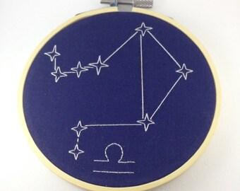 "Libra 4"" zodiac embroidery"