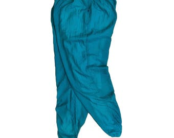 Vintage Players Teal Nylon Track Pants - XL