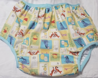 Pooh Tigger Print Adult Baby Diaper Cover Full Cut Plastic Pants ABDL
