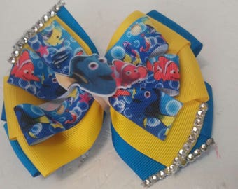 Finding Dory. Bow . Dory bow .Disney character bow . Nemo bow