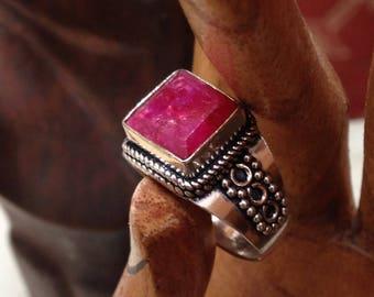 Ruby Boho Ring