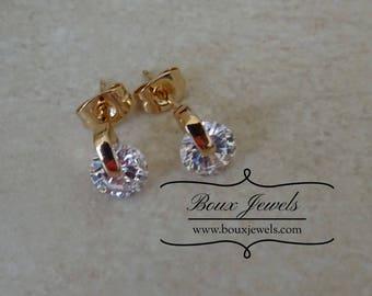 Diamond Stud Statement Earrings